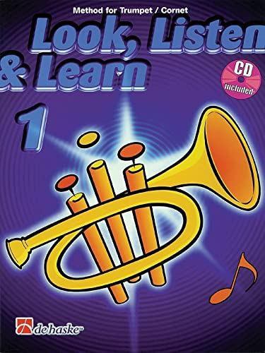 Look, Listen and Learn Book 1 | Method for Trumpet / Cornet | CD Included: Sparke, Philip