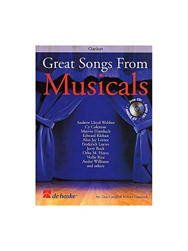 9789043110709: Great Songs from Musicals Clarinette +CD