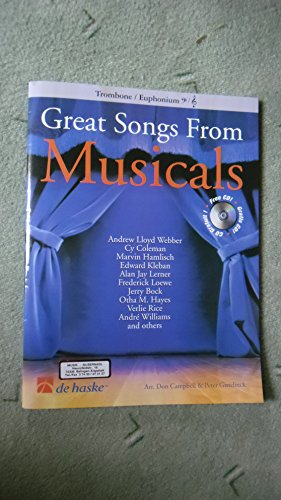 9789043110747: Great Songs from Musicals Trombone +CD