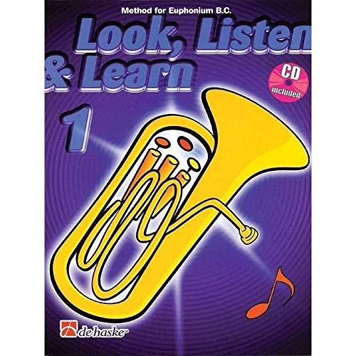 9789043111003: 1.BOMBARDINO.EUPHONIUM.(LOOK LISTEN & LEARN).(+CD).(CLAV.FA