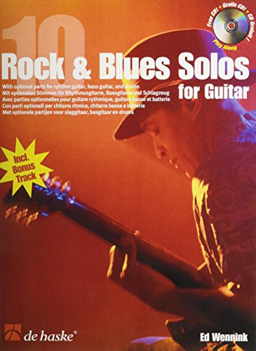 9789043113083: 10 Rock & Blues Solos for Guitar Guitare +CD