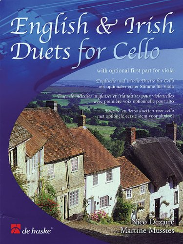 9789043115889: English & Irish Duets for Cello with Optional First Part for Viola