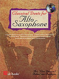 9789043118507: Classical Duets for Alto Saxophone: A Journey Through the History of Classical Music (De Haske Play-Along Book)