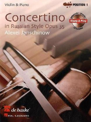 9789043120531: Concertino in Russian Style, Opus 35: Violin & Piano (De Haske Solo Work CD)