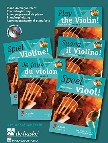 9789043123730: Play the violin! piano accompaniment vol. 1 piano+CD