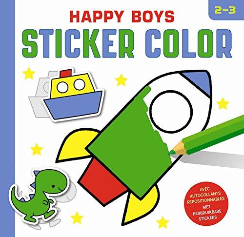 HAPPY BOYS STICKER COLOR 2-3 ANS: COLLECTIF