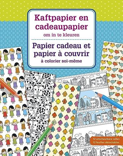 9789044742985: Papier cadeau et papier � couvrir � colorier soi-m�me
