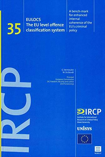 EULOCS. The EU Level Offence Classification System.: Vermeulen, G., De