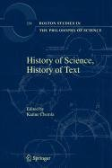 9789048100491: History of Science, History of Text