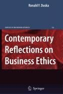 9789048109418: Contemporary Reflections on Business Ethics