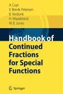 9789048117062: Handbook of Continued Fractions for Special Functions