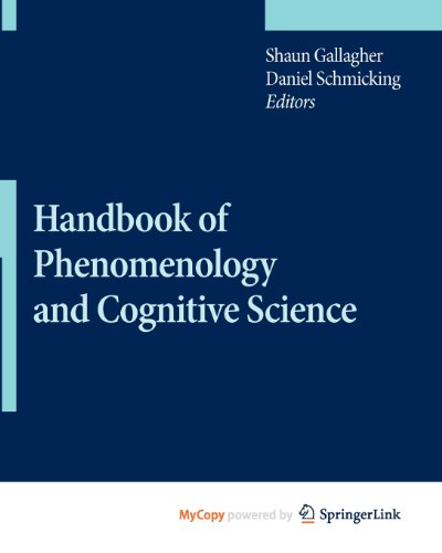 9789048126477: Handbook of Phenomenology and Cognitive Science