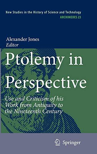 Ptolemy in Perspective: Alexander Jones