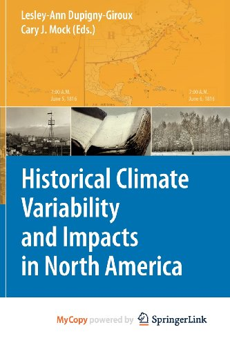 9789048128297: Historical Climate Variability and Impacts in North America