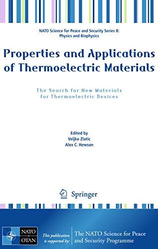 Properties and Applications of Thermoelectric Materials: Veljko Zlatic