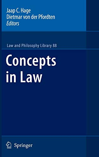 9789048129812: Concepts in Law (Law and Philosophy Library)