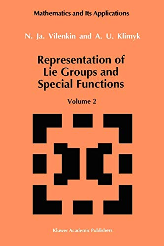 9789048141036: Representation of Lie Groups and Special Functions: Class I Representations, Special Functions, and Integral Transforms: 2