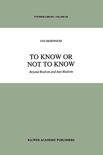 To Know or Not to Know: Jan J. T. Srzednicki