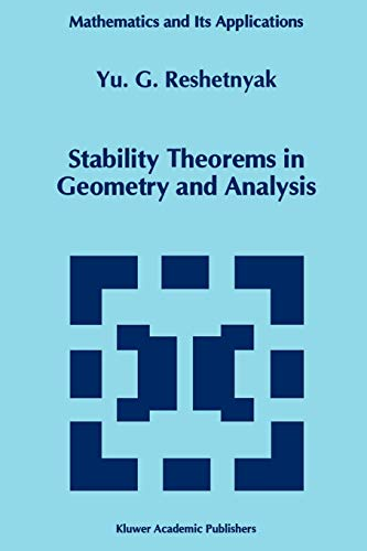 9789048144679: Stability Theorems in Geometry and Analysis