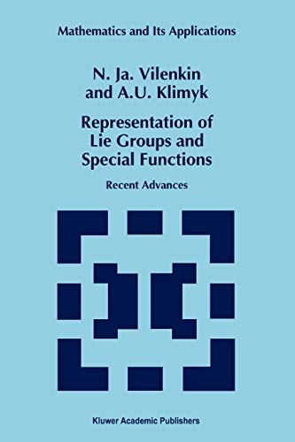 9789048144860: Representation of Lie Groups and Special Functions: Recent Advances (Mathematics and Its Applications)