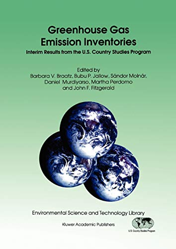 9789048147274: Greenhouse Gas Emission Inventories: Interim Results from the U.S. Country Studies Program (Environmental Science and Technology Library)