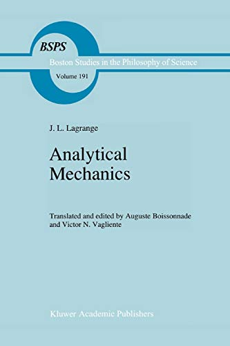 9789048147793: Analytical Mechanics (Boston Studies in the Philosophy and History of Science)