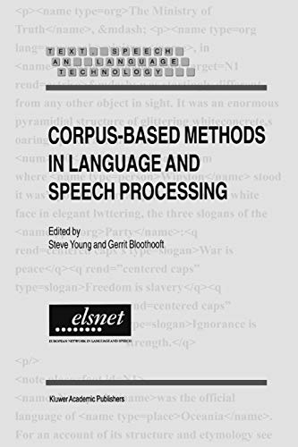 9789048148134: Corpus-Based Methods in Language and Speech Processing (Text, Speech and Language Technology)
