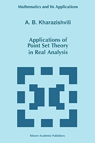 9789048150069: Applications of Point Set Theory in Real Analysis (Mathematics and Its Applications)