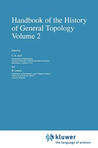 Handbook of the History of General Topology (History of Topology): Springer