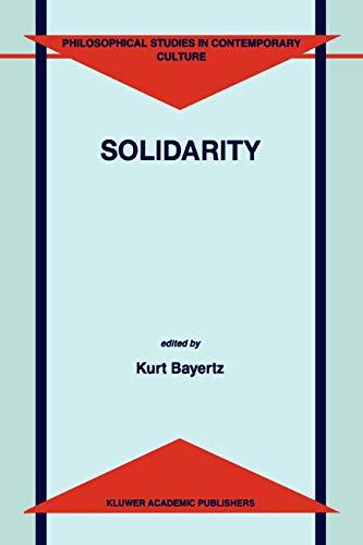 9789048151370: Solidarity (Philosophical Studies in Contemporary Culture)