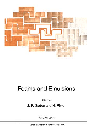 Foams and Emulsions: N. Rivier