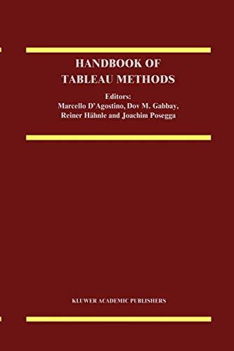 9789048151844: Handbook of Tableau Methods