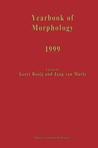 Yearbook of Morphology 1999 - Jaap Van Marle
