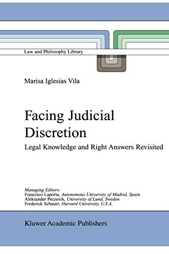 9789048156375: Facing Judicial Discretion: Legal Knowledge and Right Answers Revisited (Law and Philosophy Library)