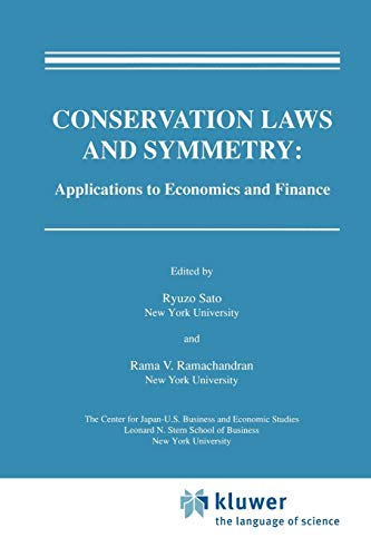9789048157860: Conservation Laws and Symmetry: Applications to Economics and Finance