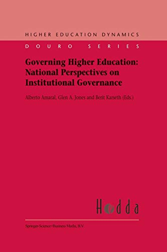 9789048162000: Governing Higher Education: National Perspectives on Institutional Governance (Higher Education Dynamics)