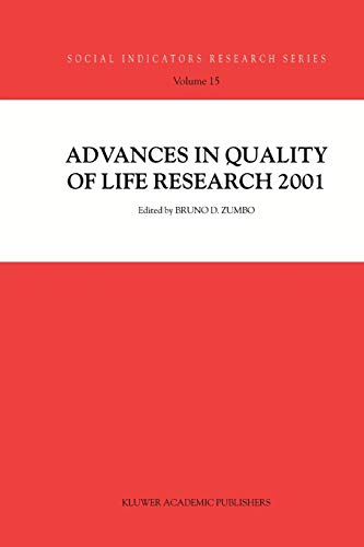 Advances in Quality of Life Research 2001 - Zumbo, Bruno D.