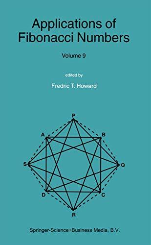 9789048165452: Applications of Fibonacci Numbers: Volume 9: Proceedings of The Tenth International Research Conference on Fibonacci Numbers and Their Applications