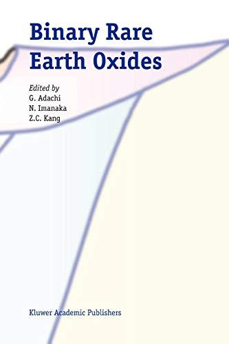 Binary Rare Earth Oxides - G. Adachi