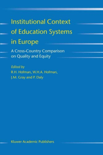 Institutional Context of Education Systems in Europe: A Cross-Country Comparison on Quality and ...
