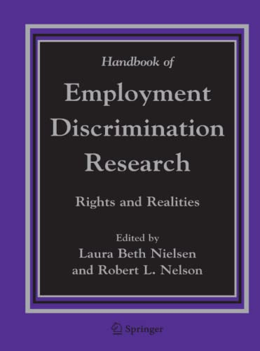 9789048168477: Handbook of Employment Discrimination Research: Rights and Realities