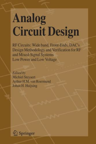 9789048169900: Analog Circuit Design: RF Circuits: Wide band, Front-Ends, DAC's, Design Methodology and Verification for RF and Mixed-Signal Systems, Low Power and Low Voltage