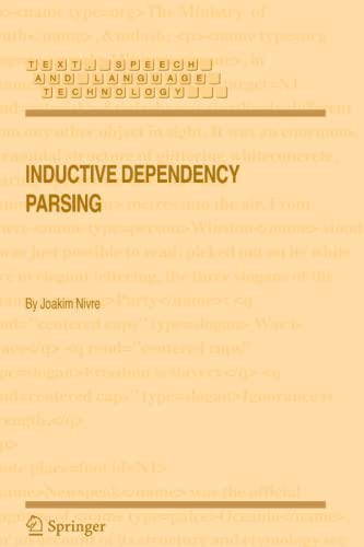 9789048172184: Inductive Dependency Parsing (Text, Speech and Language Technology)