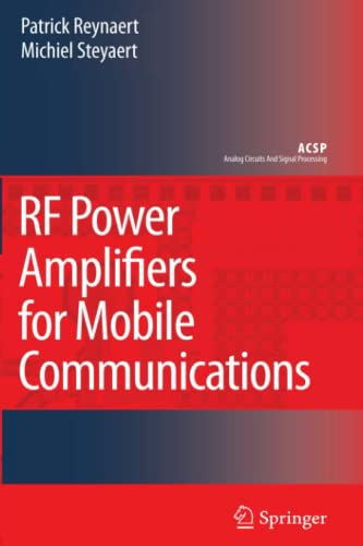 9789048172863: RF Power Amplifiers for Mobile Communications (Analog Circuits and Signal Processing)