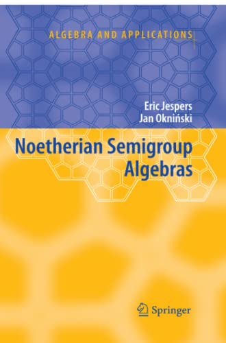9789048174485: Noetherian Semigroup Algebras (Algebra and Applications)