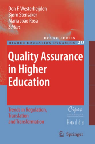 9789048175031: Quality Assurance in Higher Education: Trends in Regulation, Translation and Transformation (Higher Education Dynamics)
