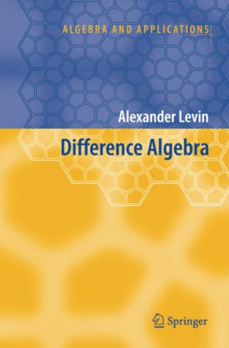 9789048177745: Difference Algebra (Algebra and Applications)