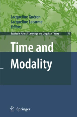 9789048178537: Time and Modality (Studies in Natural Language and Linguistic Theory)