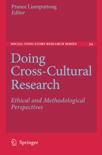 9789048179121: Doing Cross-Cultural Research: Ethical and Methodological Perspectives (Social Indicators Research Series)