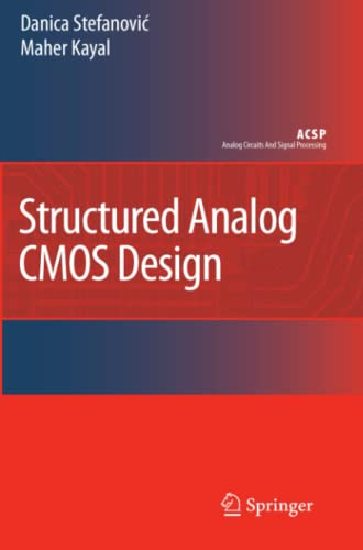 9789048179152: Structured Analog CMOS Design (Analog Circuits and Signal Processing)